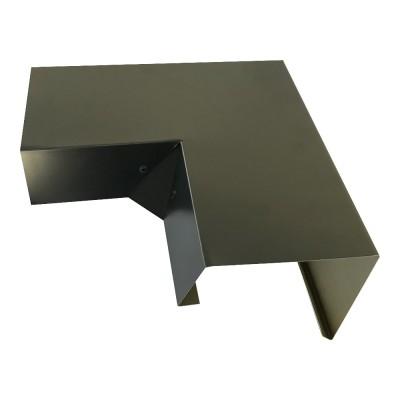 Betongaragen Randabdeckung aus Aluminium Graualuminium