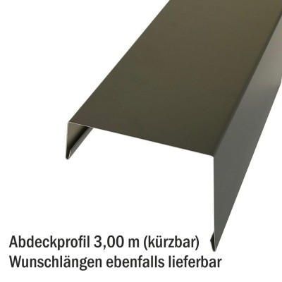 Betongaragen Randabdeckung aus Aluminium Lichtgrau