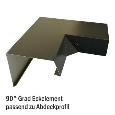 Betongaragen Randabdeckung aus Aluminium Sephiabraun