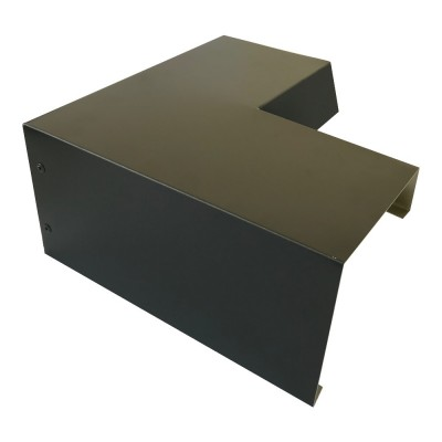 Betongaragen Randabdeckung aus Aluminium Schwarzgrau